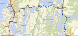 Veibeskrivelse med kjørerute fra Haugesund